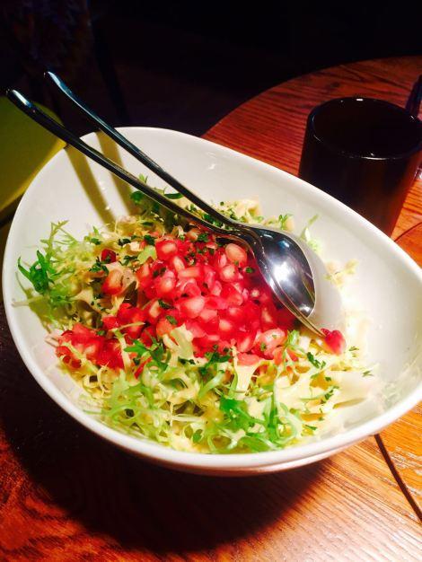 ensalada escarola y granada-alberto chicote- yakitoro castellana